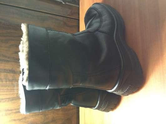 Сапожки ботинки. Зима. Кожа. Мех