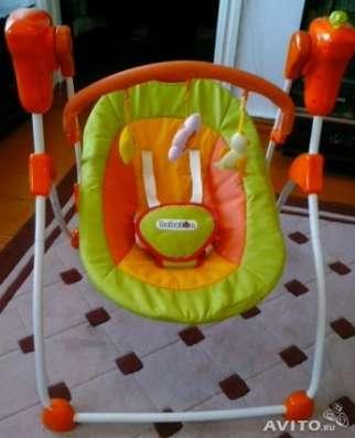 Прокат, электрокачеля детская, Бебетон, оранжевая в Барнауле Фото 1