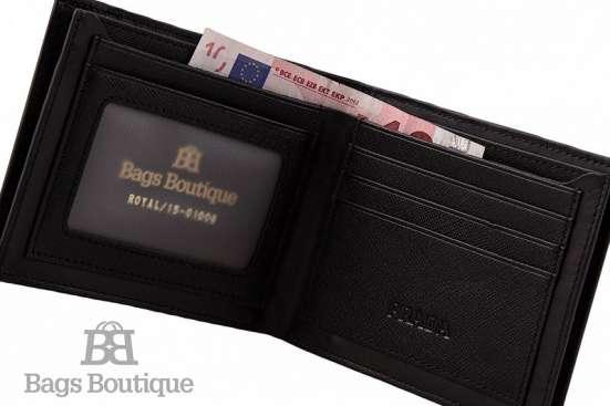 Кошелек Saffiano leather wallet with intarsia