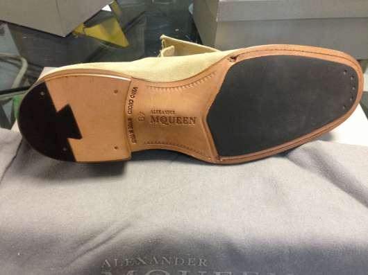 Ботинки замшевые Alexander McQueen в Москве Фото 3