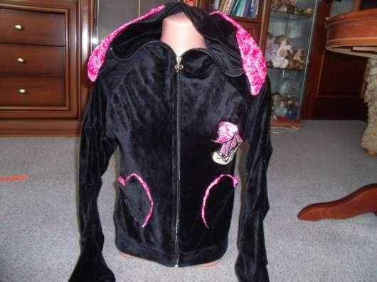 Гламурный велюровый костюм с ушками р.44-46 новый