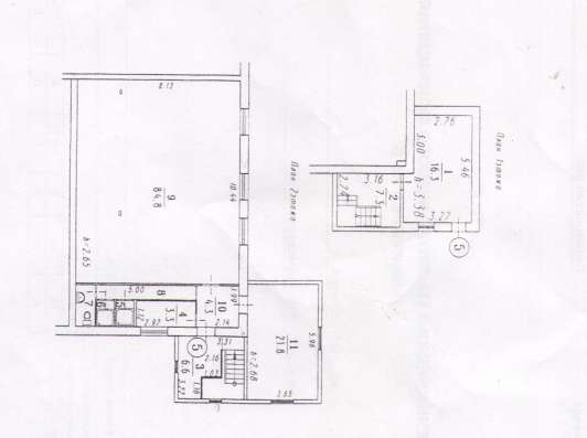 1-комнатная 2-этажная квартира