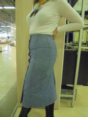 Юбка джинсовая длинная, р.48
