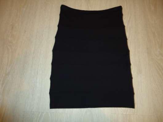 Юбка-карандаш черная теплая, размер 44