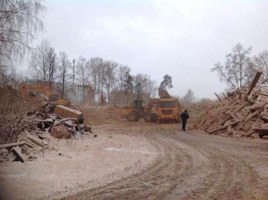 Демонтаж, снос строений, отрыв катлованов