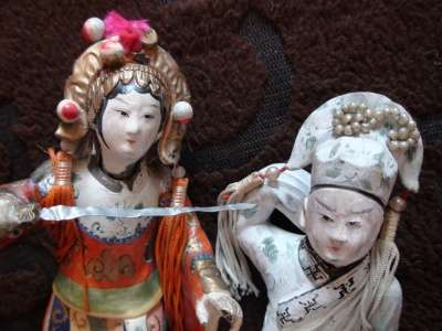 сер.19в статуэтки Китайские девушки 2шт. в Санкт-Петербурге Фото 1