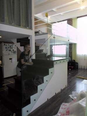 Стеклянные перила для лестниц, лестницы в г. Караганда Фото 4