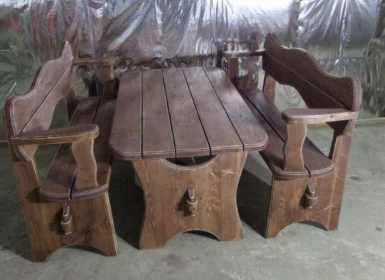 Стол с лавками для сада, или бани в Мурманске Фото 2