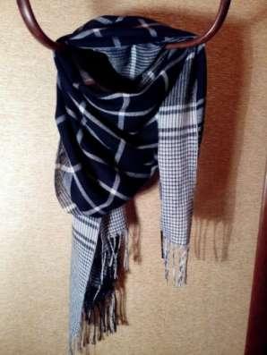 шарф черно-белый в клетку в Санкт-Петербурге Фото 3