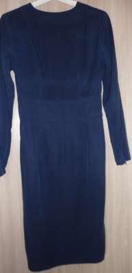 Платье синее с запа'хом, р-42(44) в Новосибирске Фото 2