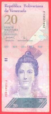 Венесуэла 20 боливаров 2007 г. май