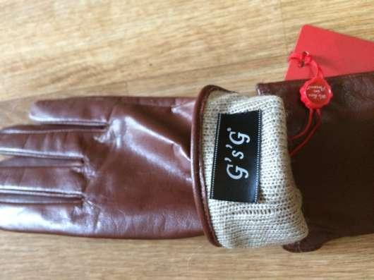 Перчатки женские новые корричневые