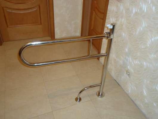 Поручни для инвалидов из полированной нержавеющей стали в Краснодаре Фото 5