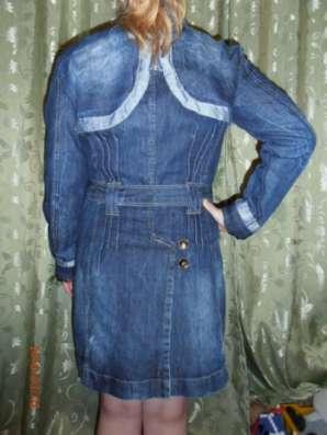 плащ джинсовый пр-во Турция 44-46р-р в Чебоксарах Фото 2