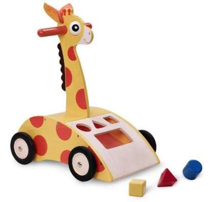 Каталка-ходунки жираф с сортером Wonderworid