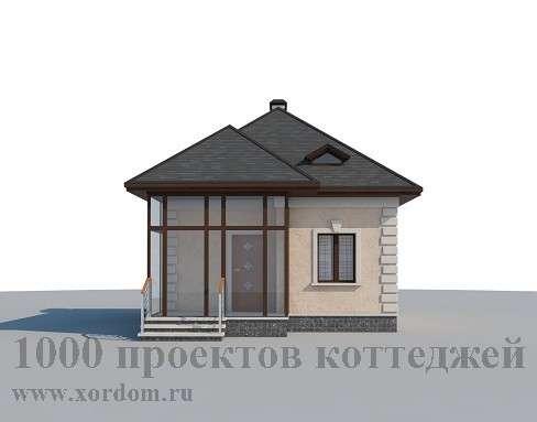 Строительство кирпичного дома с мансардой 6 x 6,6
