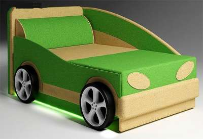 Авто мини диванчик раскладной с бортиком