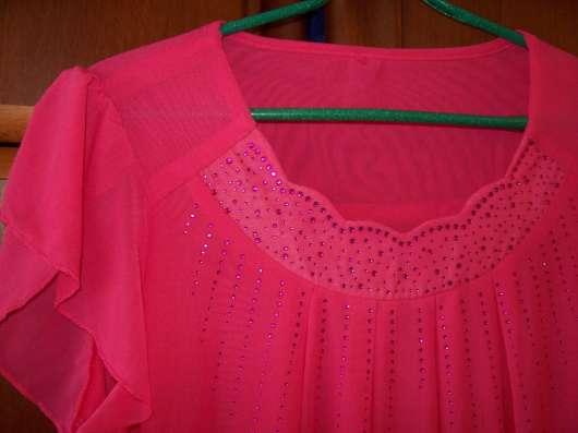 Блузка розового цвета, размер 46-48