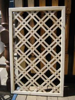 Шпалеры деревянные, декоративные решетки