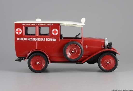 автомобиль на службе №32 АМО-Ф-15 Скорая медицинская помощь