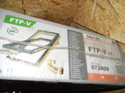 Продам новое мансардное окно FTP-V 94х140 +оклады