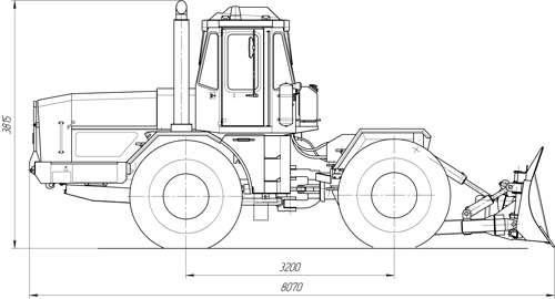 Бульдозер К-703-ДМ-15Т (дорожная машина, грейдозер)