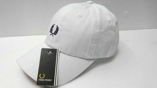 Fred Perry white бейсболка