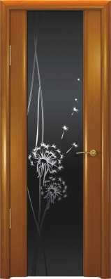 Дверь межкомнатная Шторм-3 Гламур Одуванчик, шпон Анегри
