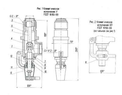 КДН 50-25. Клапан для сж.газа и нефтепр.