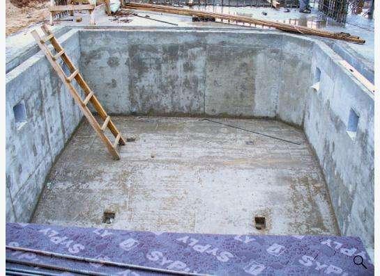 Строительство бассейнов из монолитного железобетона