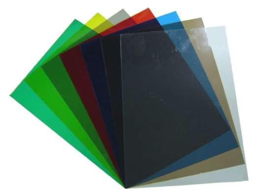 Обложки пластик прозрачные дымчатые А4 х0,18мм