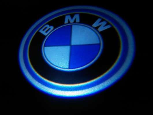 Подсветка дверей авто с логотипом BMW штатная