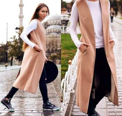 Жилет-пальто из кашемира