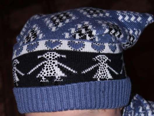 Шапка зимняя с шарфом в Звенигороде Фото 1
