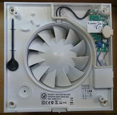 Вентилятор SILENT-100 CRZ Silver Design-3C, таймер