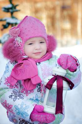 Теплый и очень красивый зимний комплект на девочку