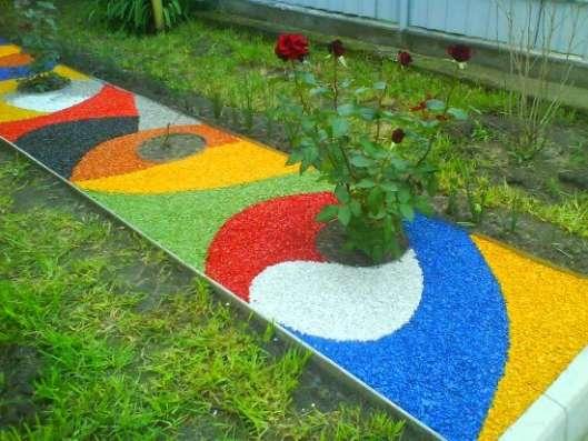 Ландшафтный цветной декоративный щебень в Казани Фото 3
