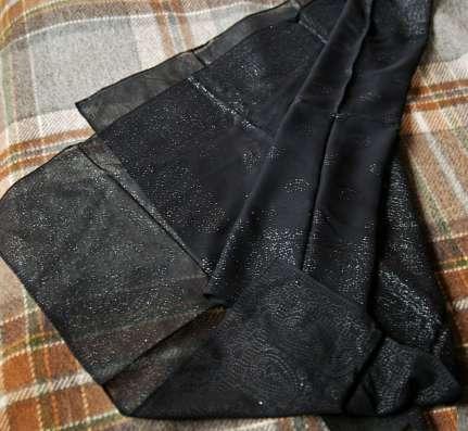 Etro подлинный, черный палантин, шаль
