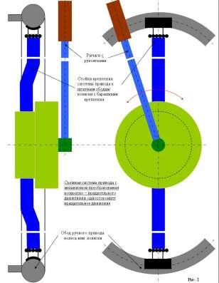 Описание по сборке и чертежи привода инвалидной коляски в г. Минск Фото 3