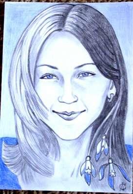 нарисую портрет на основе хорошей фотографии
