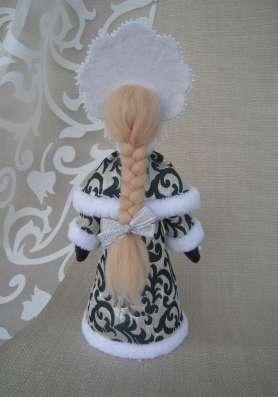 Дед Мороз и Снегурочка настольные. Авторские куклы в Екатеринбурге Фото 2