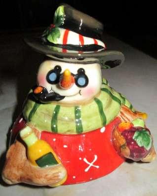 Оригинальная солонка-перечница «Снеговик», Германия. в Краснодаре Фото 3