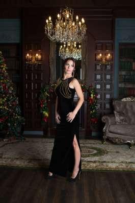 Чёрное бархатное платье с цепями от KUTUZOV в Санкт-Петербурге Фото 2