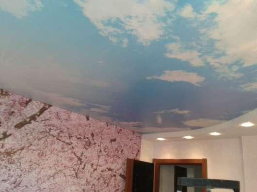 Натяжные потолки с фотопечатью на сатине, мате (ширина 320см в Екатеринбурге Фото 1