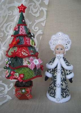 Дед Мороз и Снегурочка настольные. Авторские куклы в Екатеринбурге Фото 1