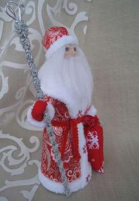 Дед Мороз и Снегурочка настольные. Авторские куклы в Екатеринбурге Фото 5