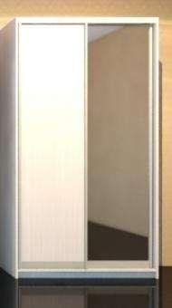 шкаф-купе:шк-1(1 зеркало+1 ЛДСП)