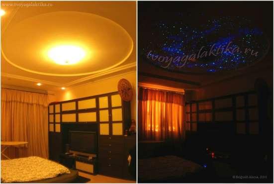 Роспись Звездное небо. Светящийся ночью потолок
