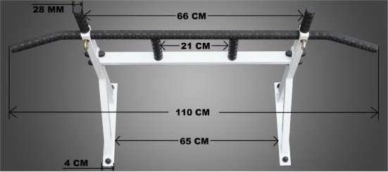 Турник на стену ANTEY-Standart (диаметр хвата 28мм.)