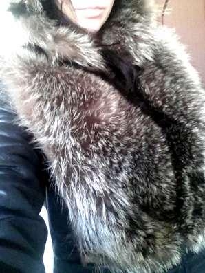 Зимняя кожаная куртка с чернобуркой в Москве Фото 1